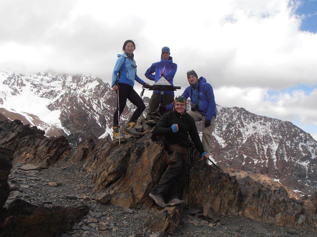 Teamet på toppen av Cerro Adolfo Calle, 4200möh.
