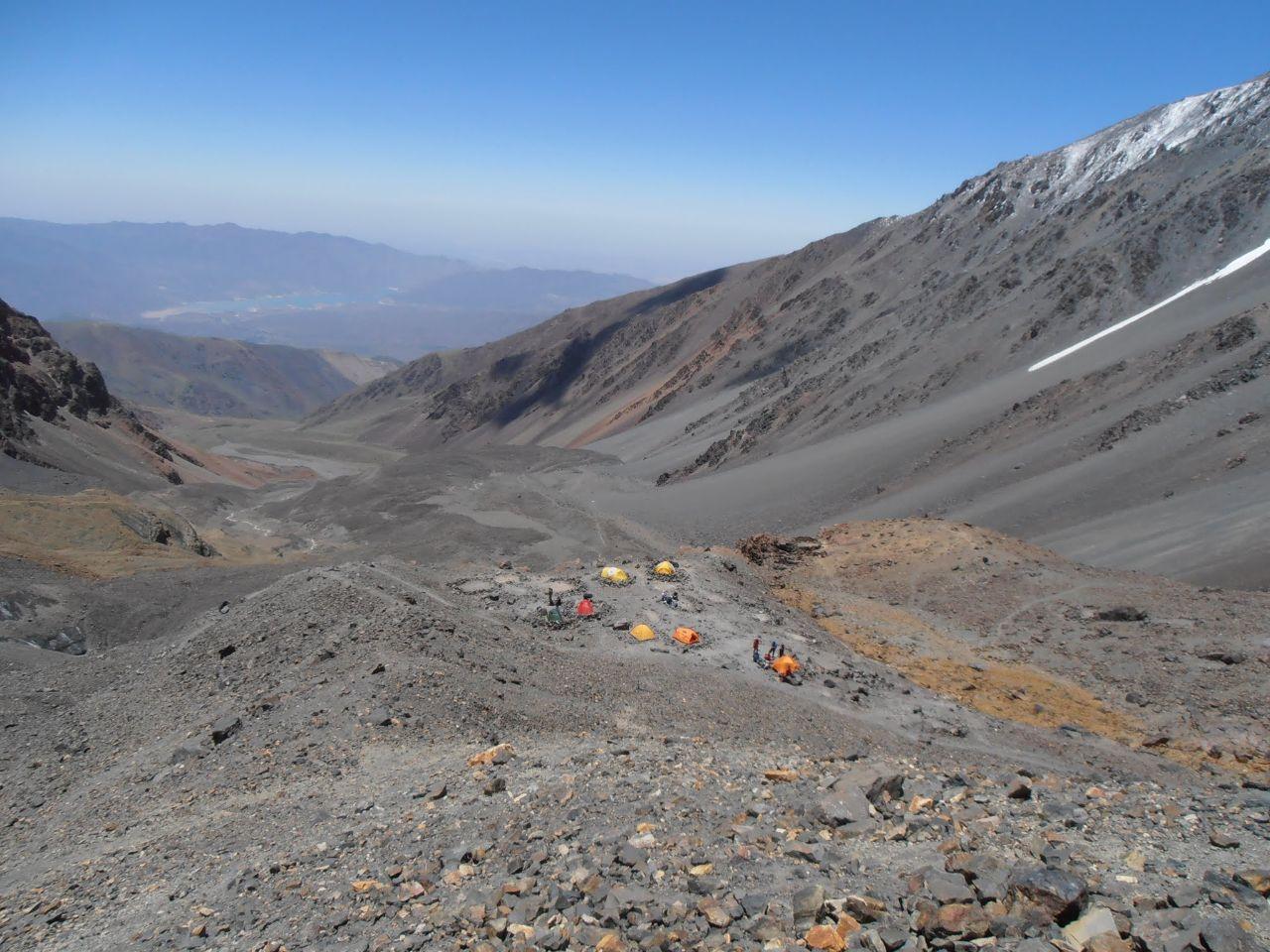 Lägret, Camp Salto de Agua, 4200möh.