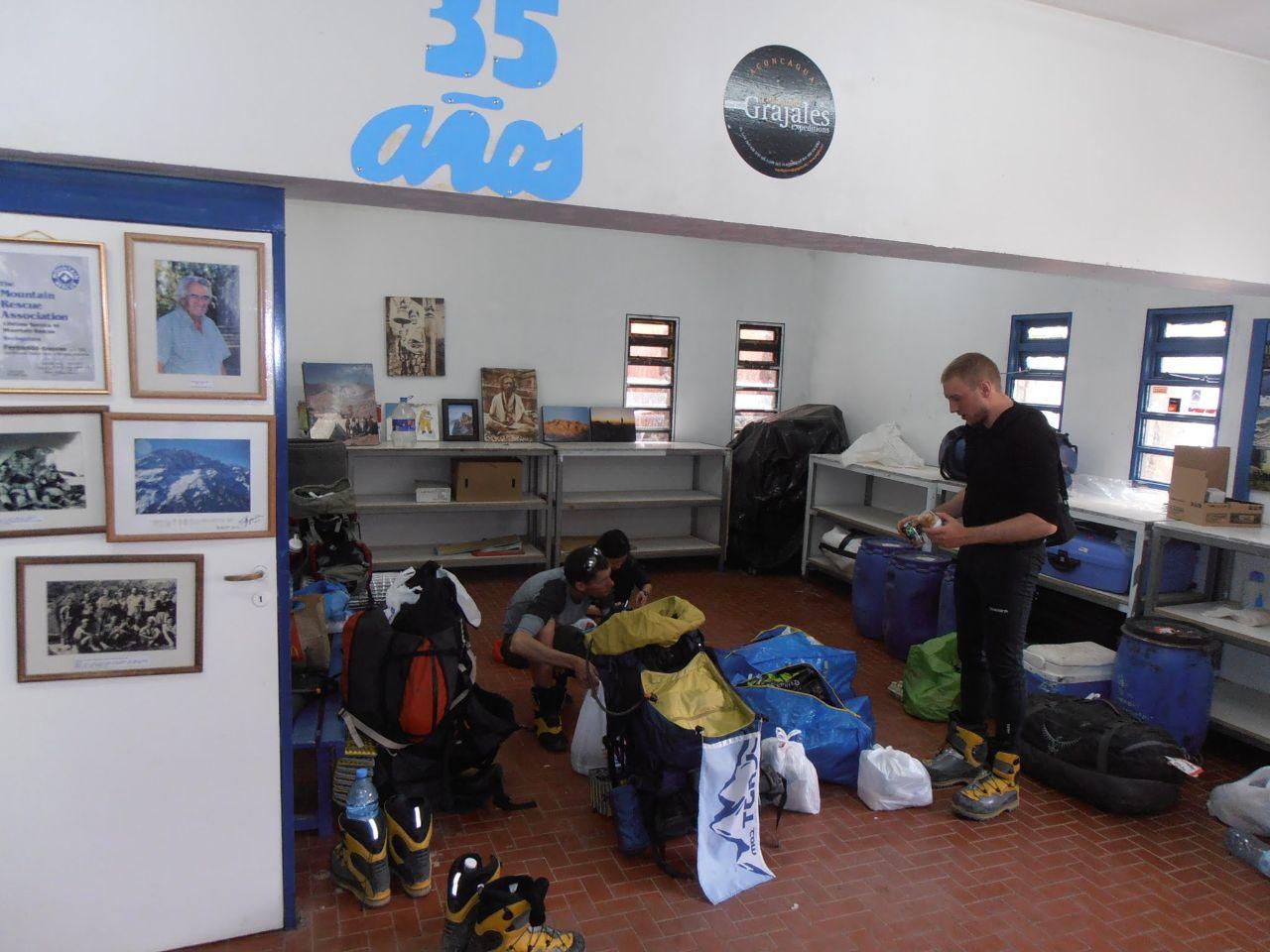 Ompackning i Grajales lokaler i Los Penitentes.