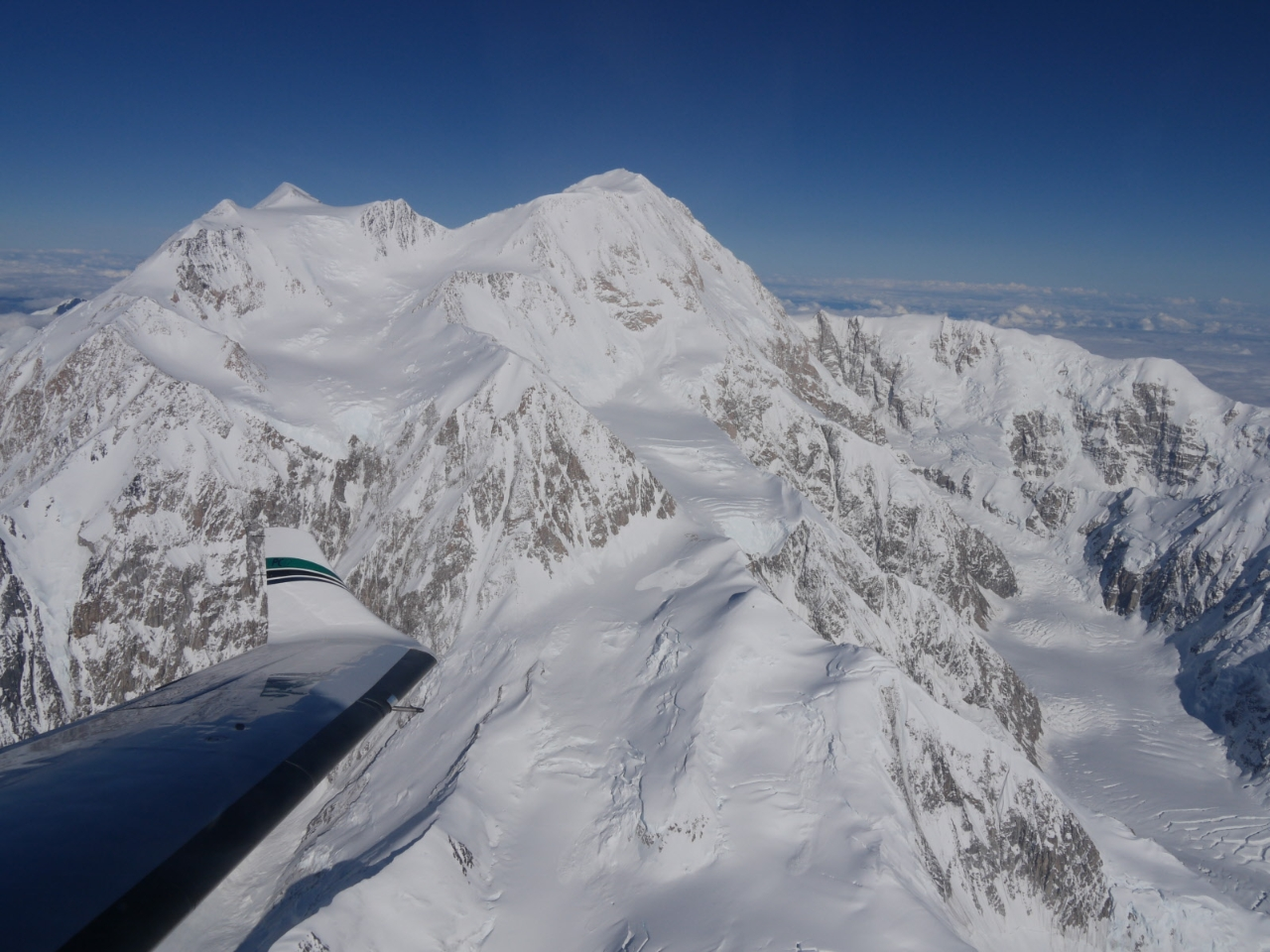 Mount McKinley West Buttress (lower left to upper right), August 2010