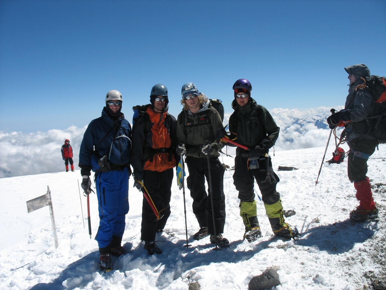 Team Lajt on the summit of Elbrus