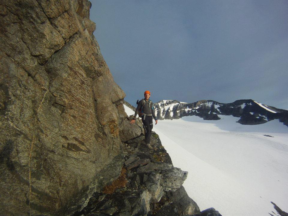 Tobias efter första pitchen klättring