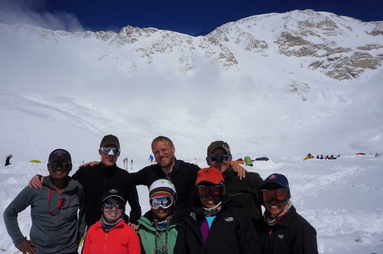 Team Lajt at the on Denali